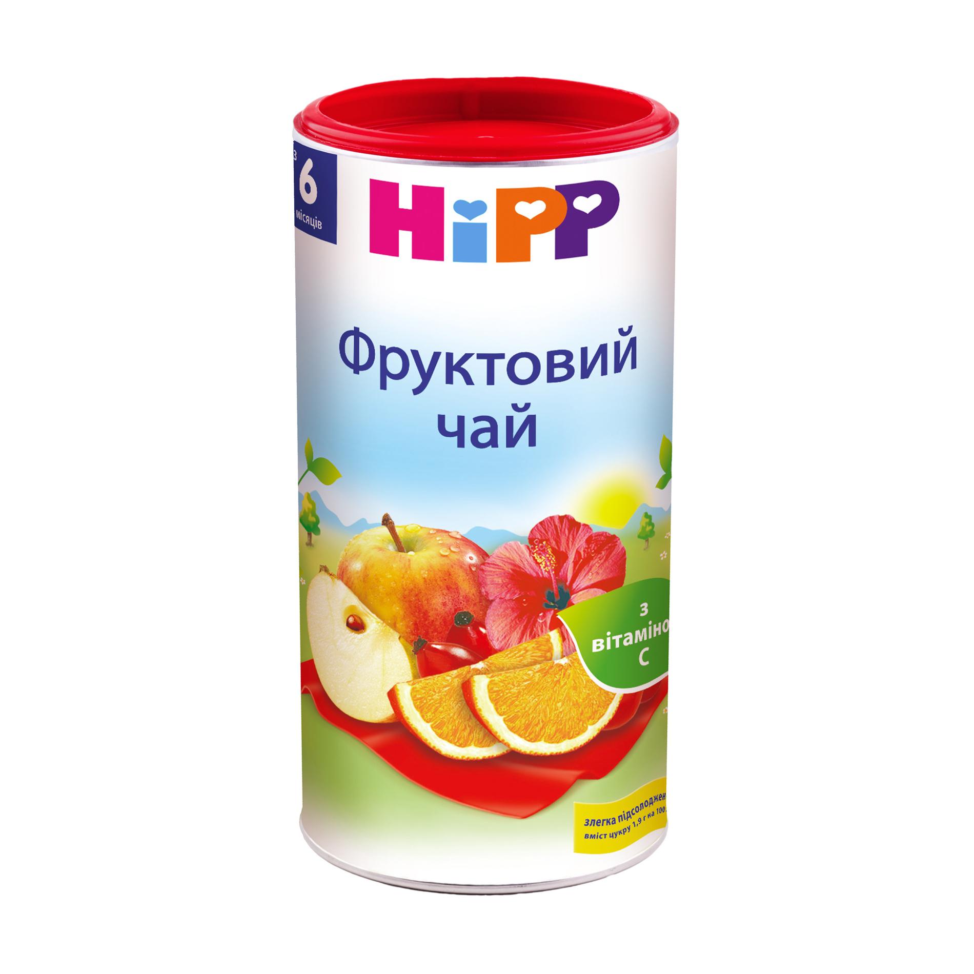 Дитячий чай HiPP фруктовий, з 6 місяців, 200 г