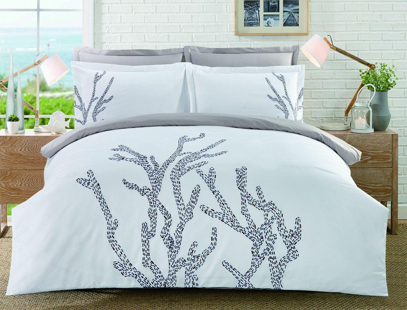 Купить Комплект постельного белья Home line Евро сатин Коралы