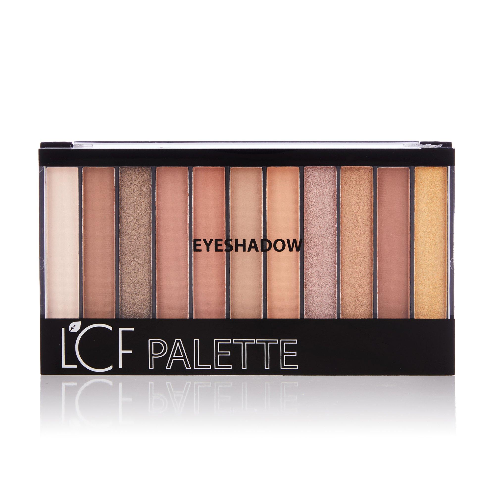 Палетка тіней для повік LCF Pallete Eyeshadow тон 1 Бежевий, 22 г