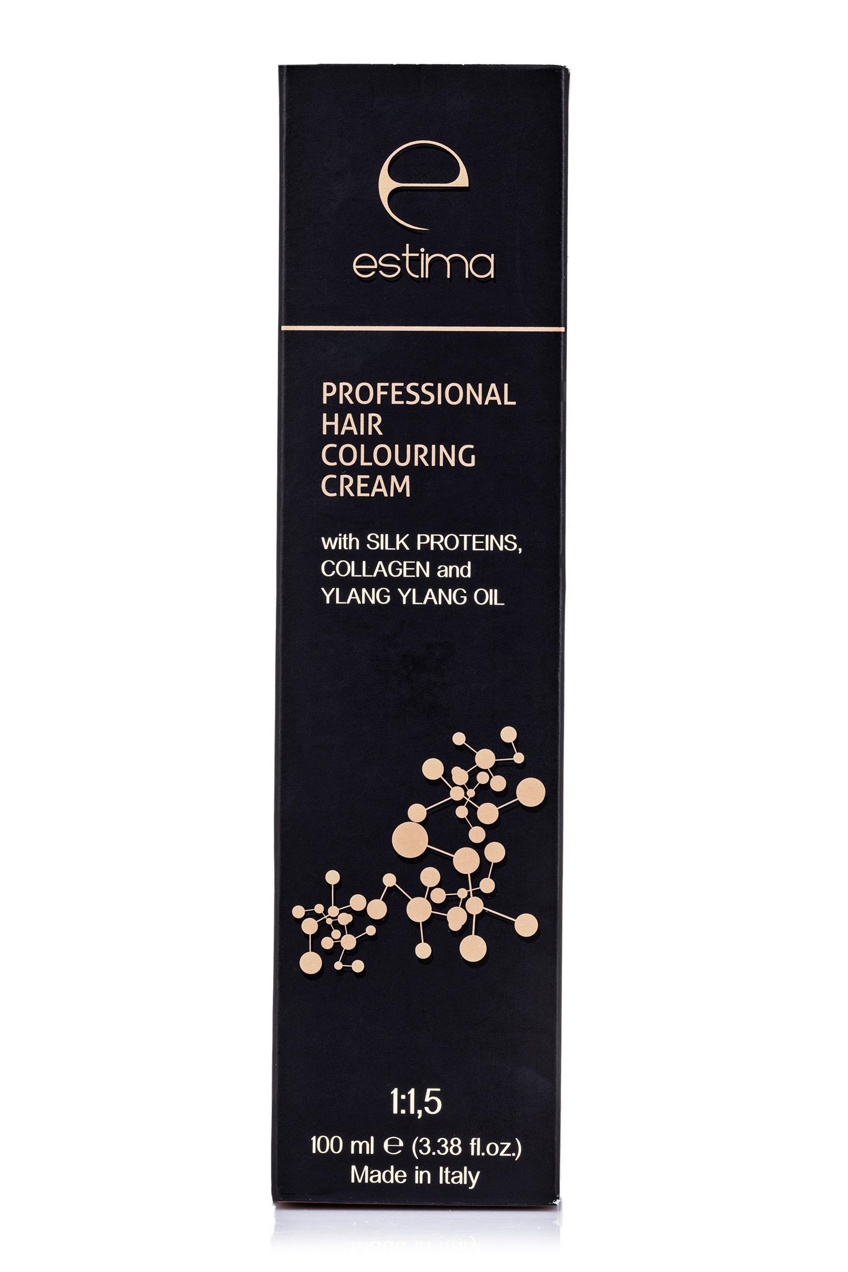 Купить Профессиональная краска для волос Estima 8.1 светлый пепельный блондин, 100 мл