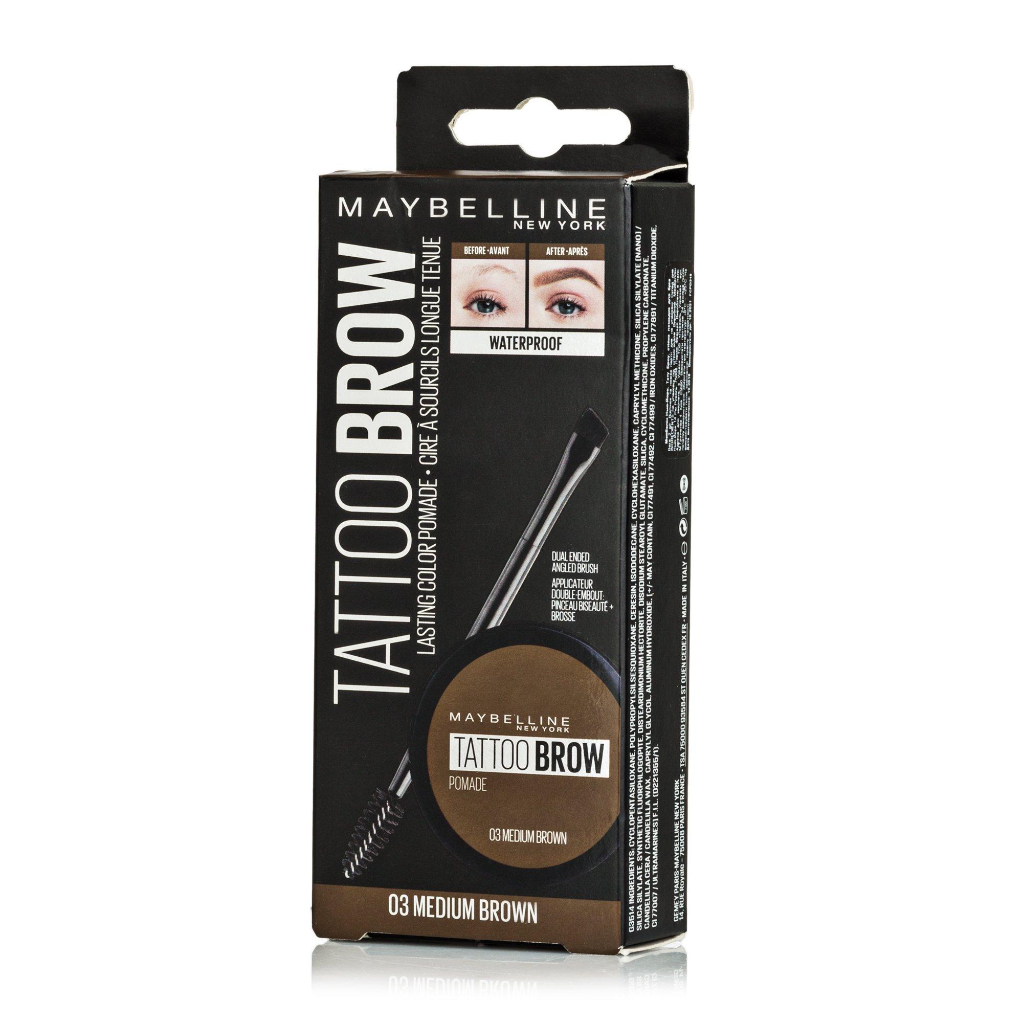 Помада для бровей Maybelline Нью-Йорк Tatto Brow, Maybelline New York  - купить со скидкой
