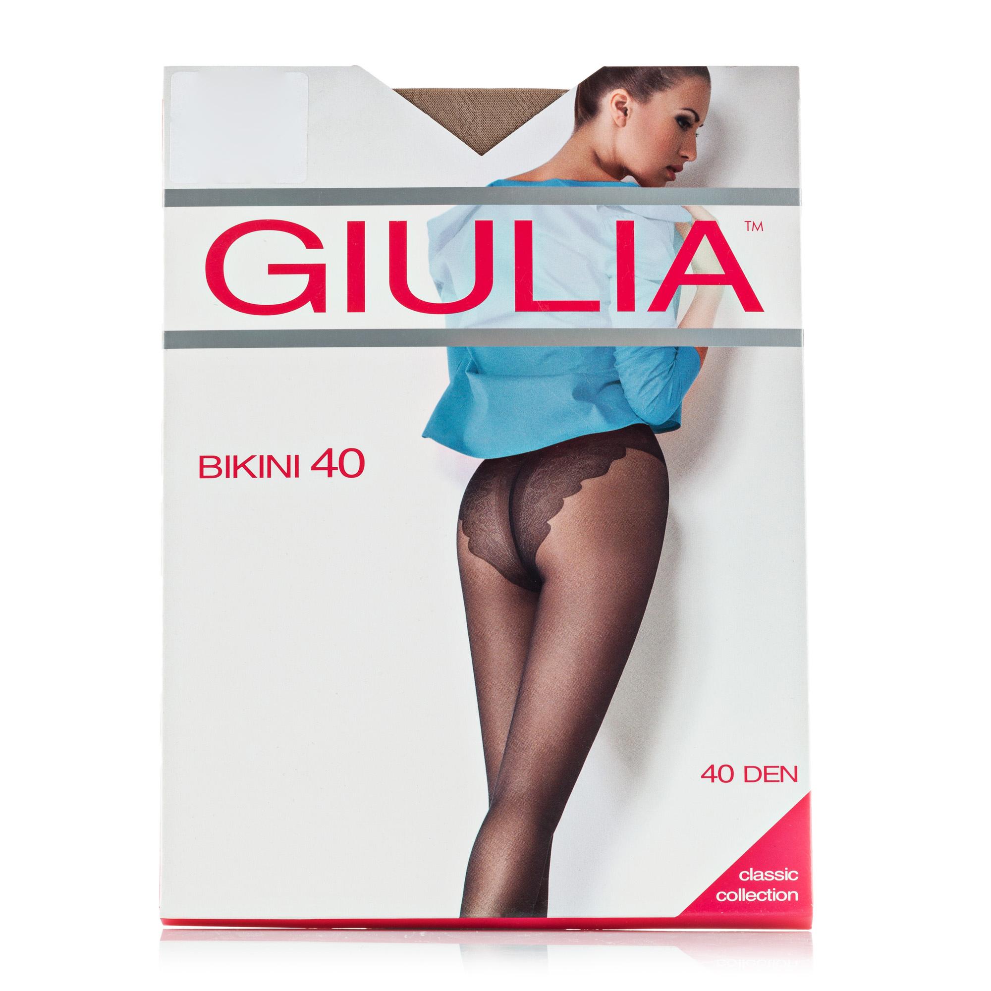 Купить Колготки женские GIULIA BIKINI 40 Den nero р.5