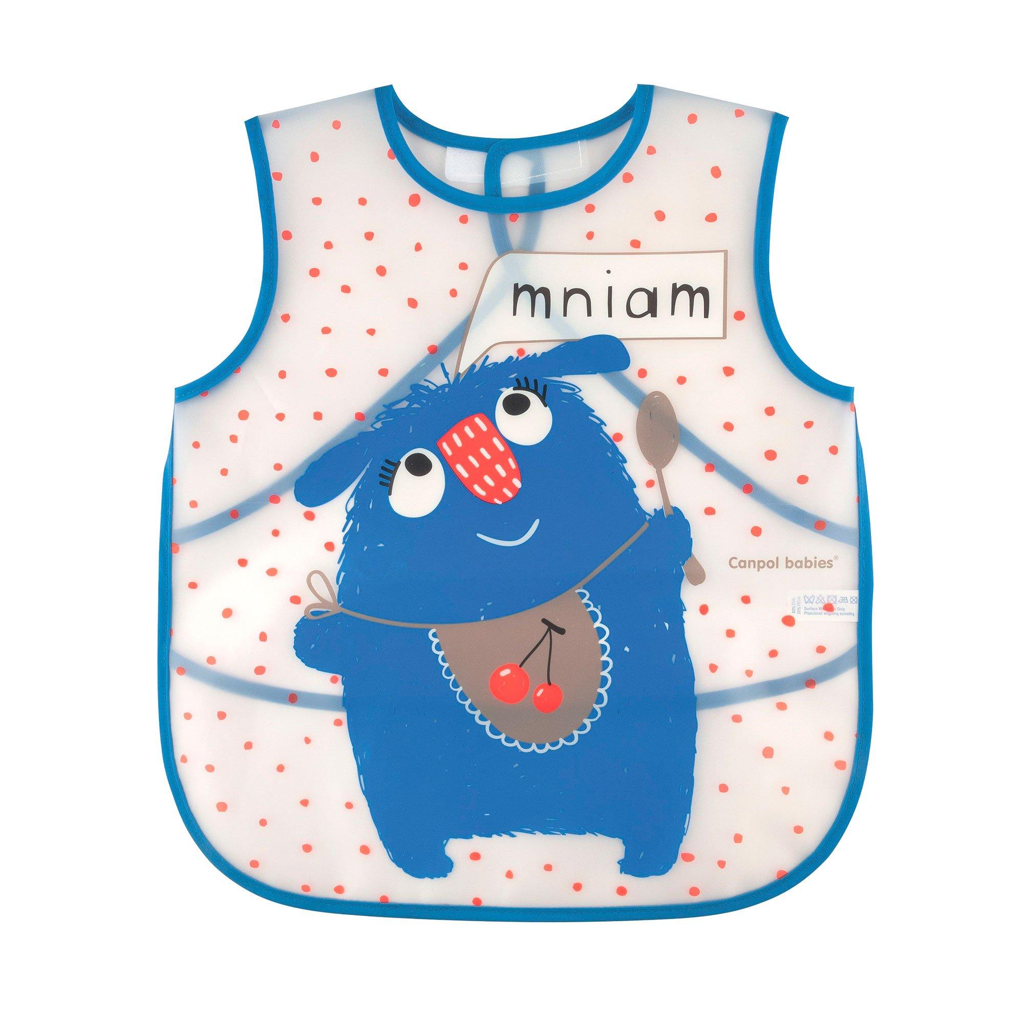 Купить Слюнявчик Canpol babies фартук Монстрики голубой
