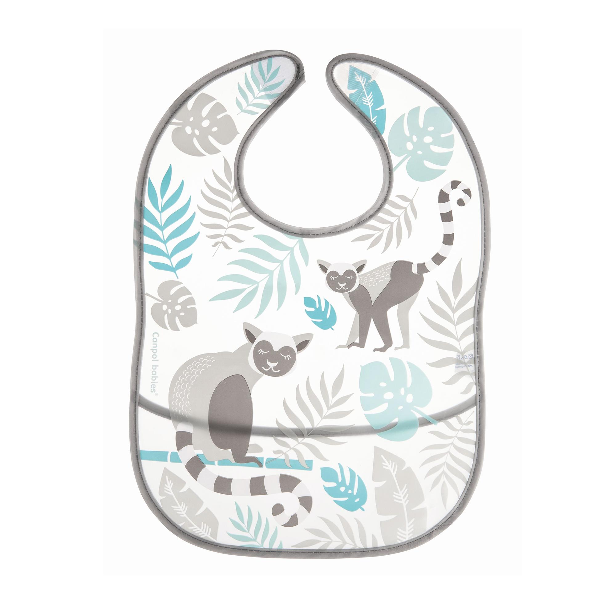 Купить Слюнявчик Canpol babies из кармана Jungle серый