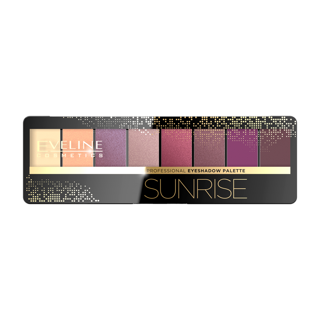 Тени для век Eveline Eyeshadow Professional Palette Sunrise, 9.6 г Eveline Cosmetics