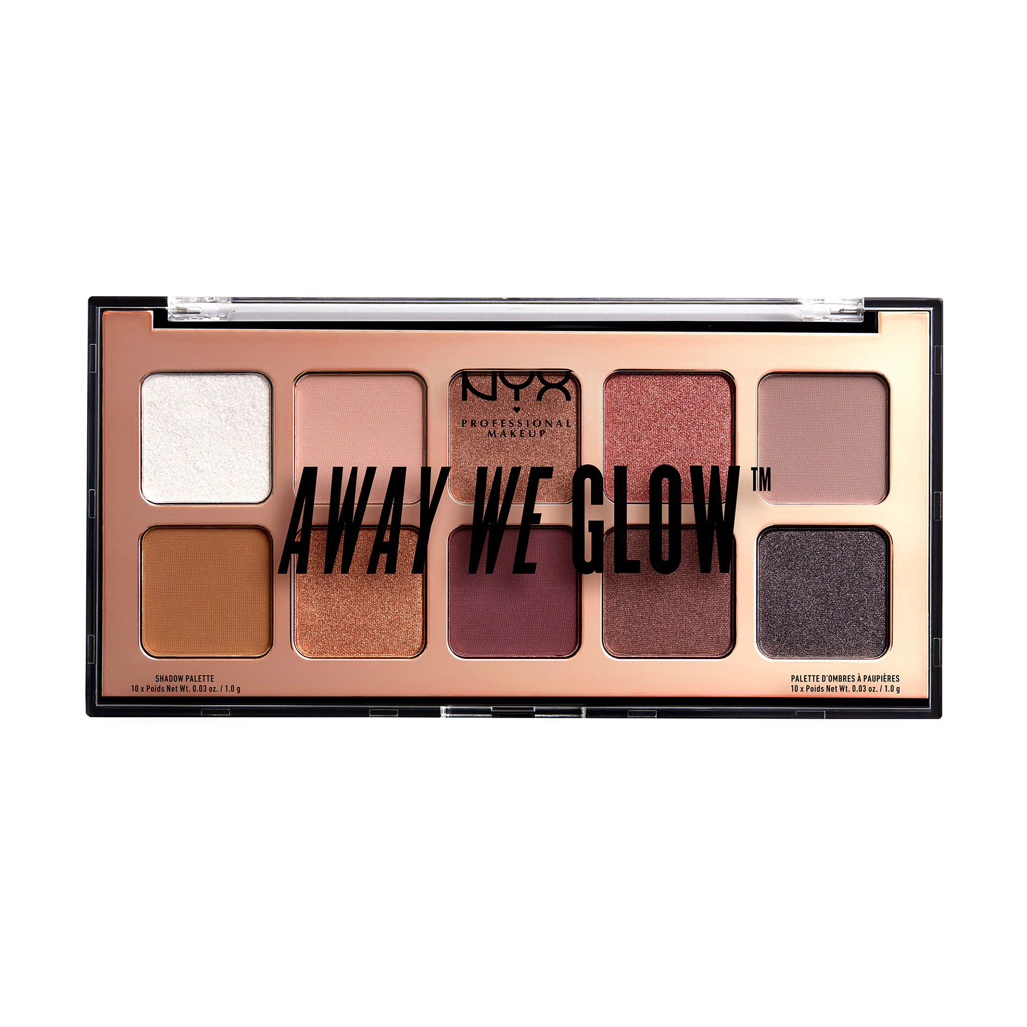 Купить Палетка теней NYX Professional Makeup Away Weгlow Shadow Palette 01 Love Beam 10г