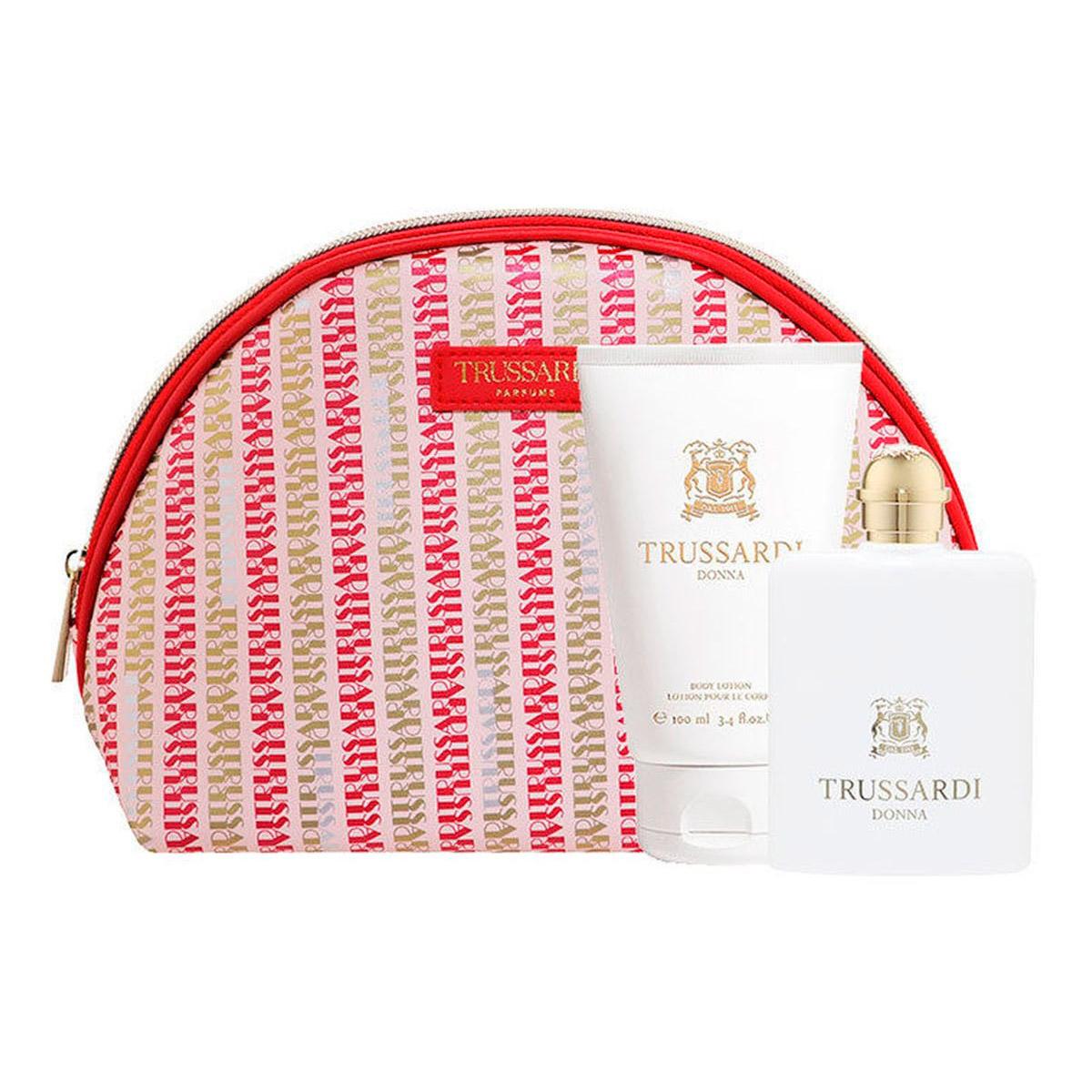 Набор Trussardi Donna женский (Парфюмированная вода 100мл+лосьон для тела 100мл+сумка)