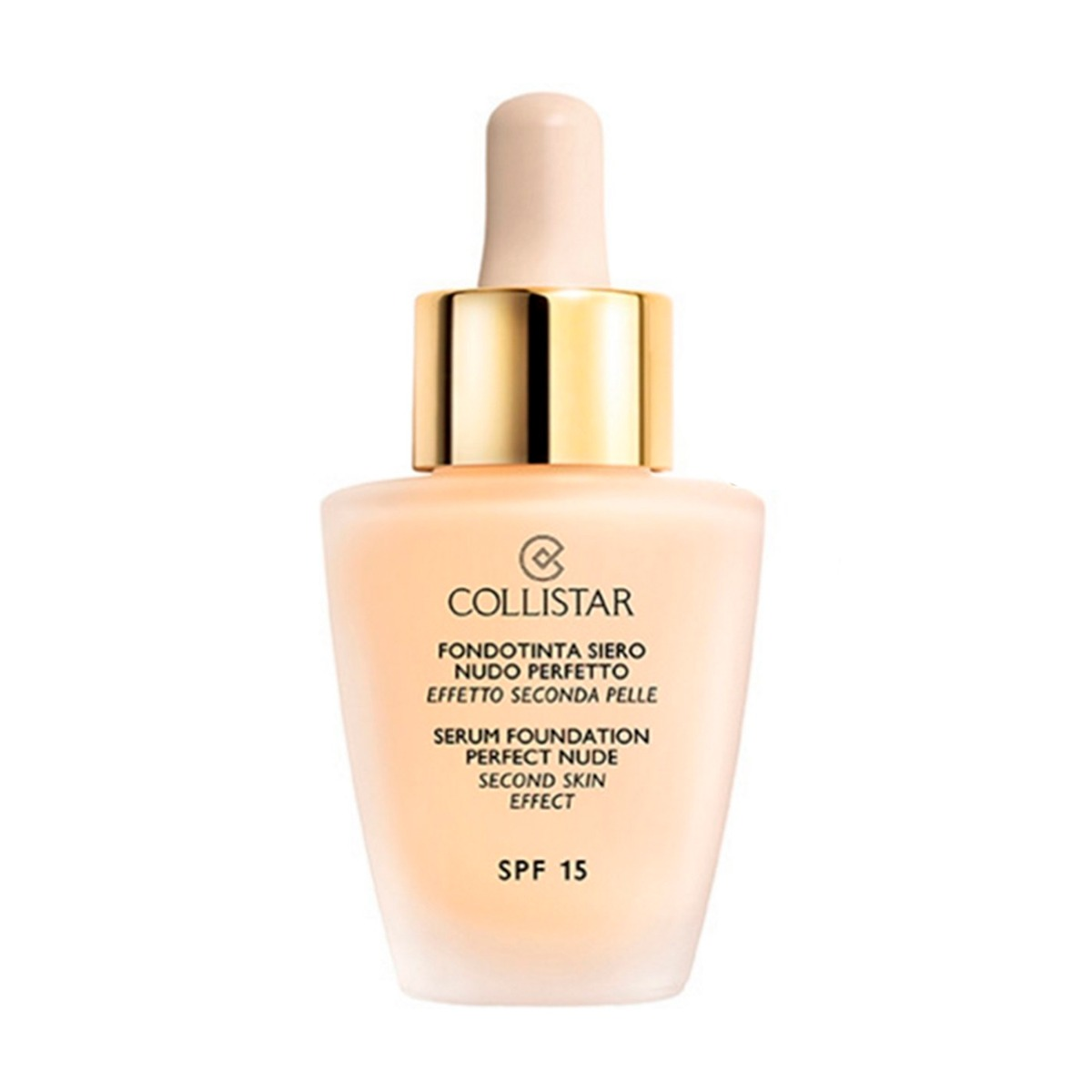 Тональный крем Collistar Serum Foundation Perfect Nude Second Skin Effect SPF 15 1 Ivory 30 мл