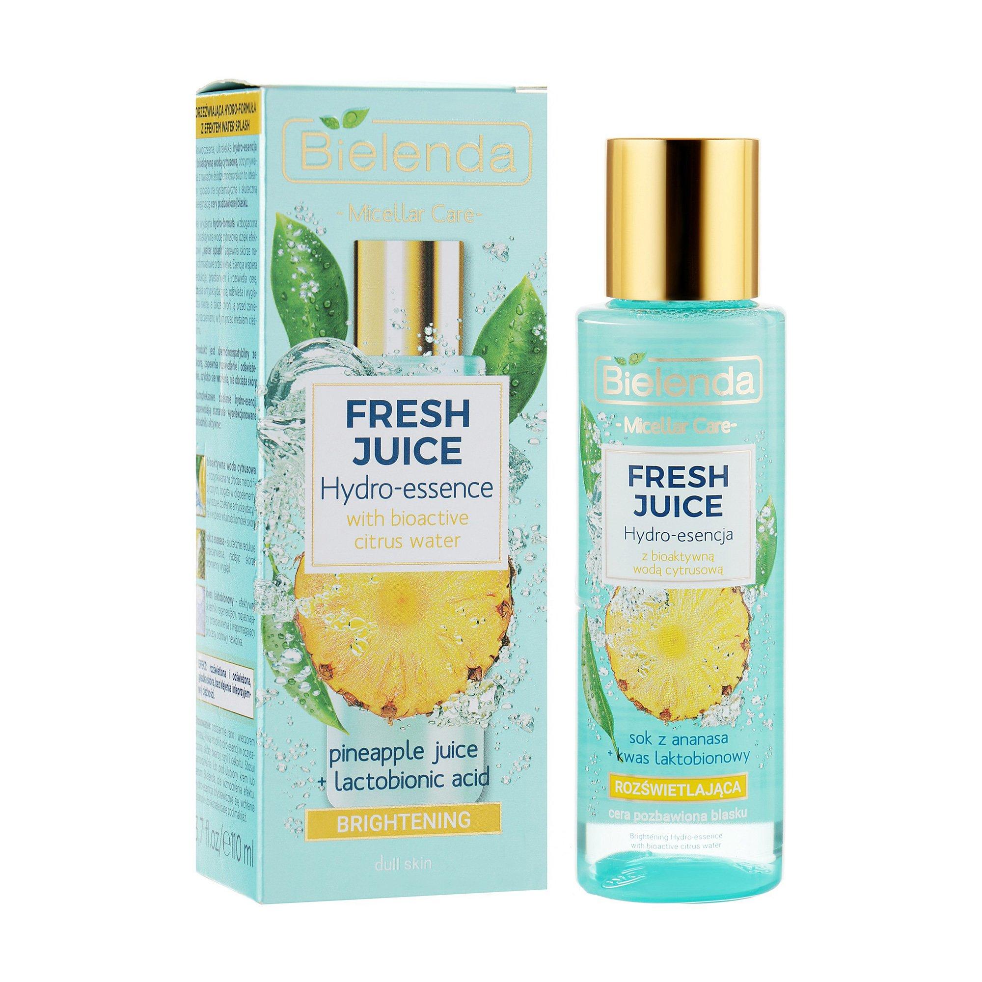Гидроэссенция для ухода за лицом Bielenda Fresh juice осветляющая, ананас, 110 мл