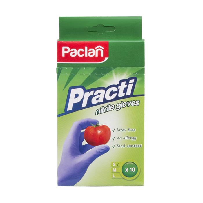 Рукавички Paclan нітрилові р. М, 10 шт