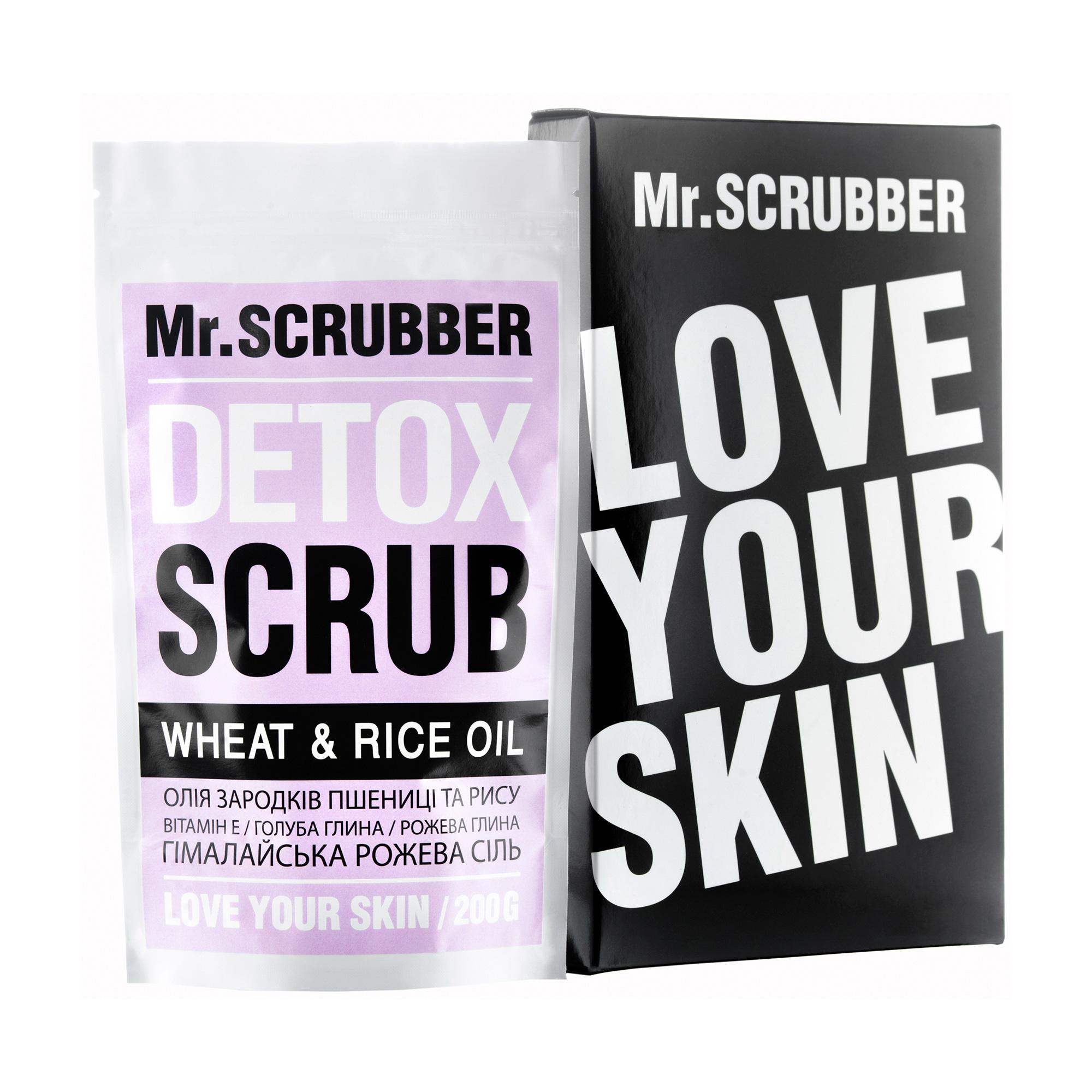 Рисовый скраб для тела Mr.Scrubber Detox Wheat and Rice Oil Детокс для похудения, 200 г