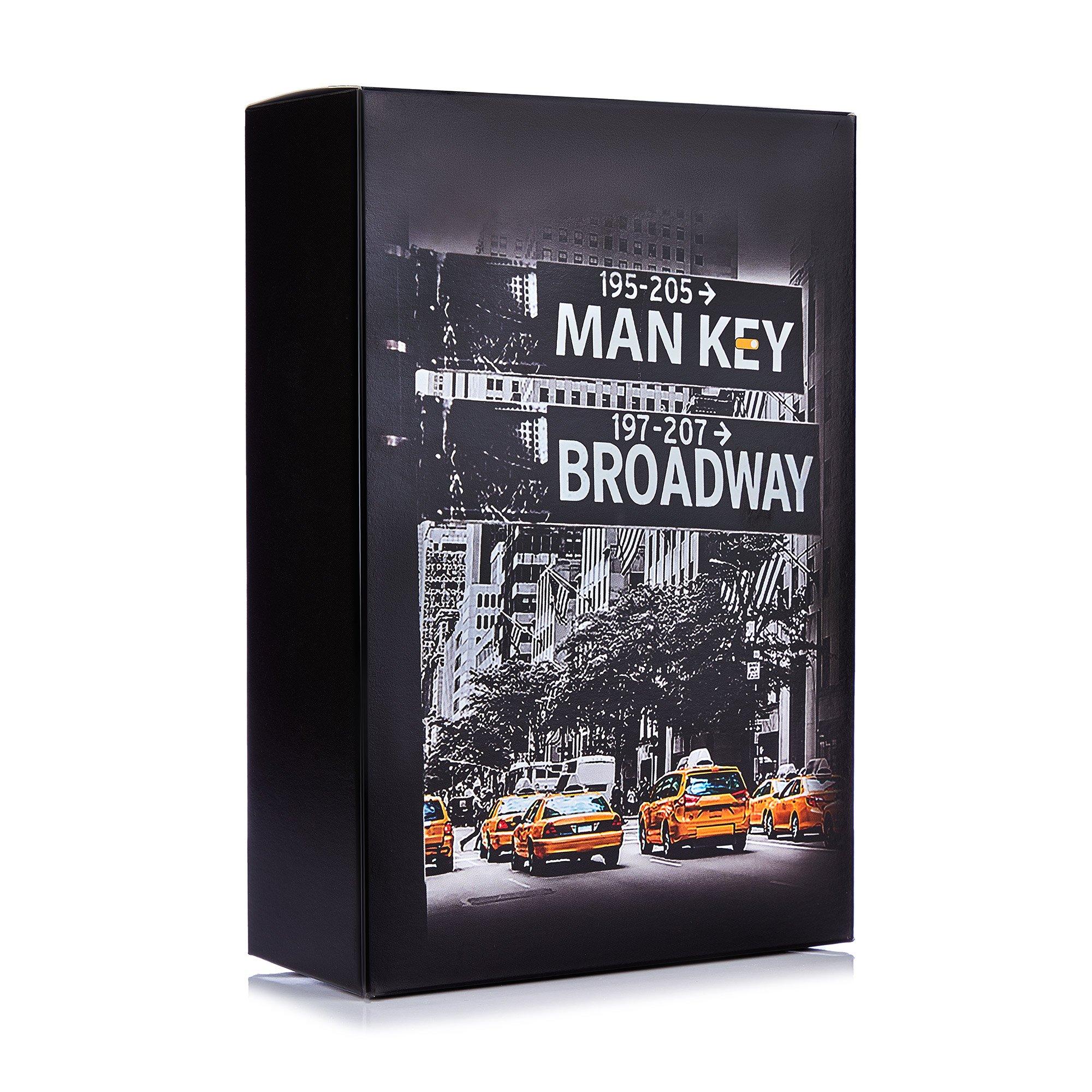 MAN KEY / Подарунковий набір чоловічий Man Key Broadway (гель для душу + шампунь-кондиціонер + мочалка)