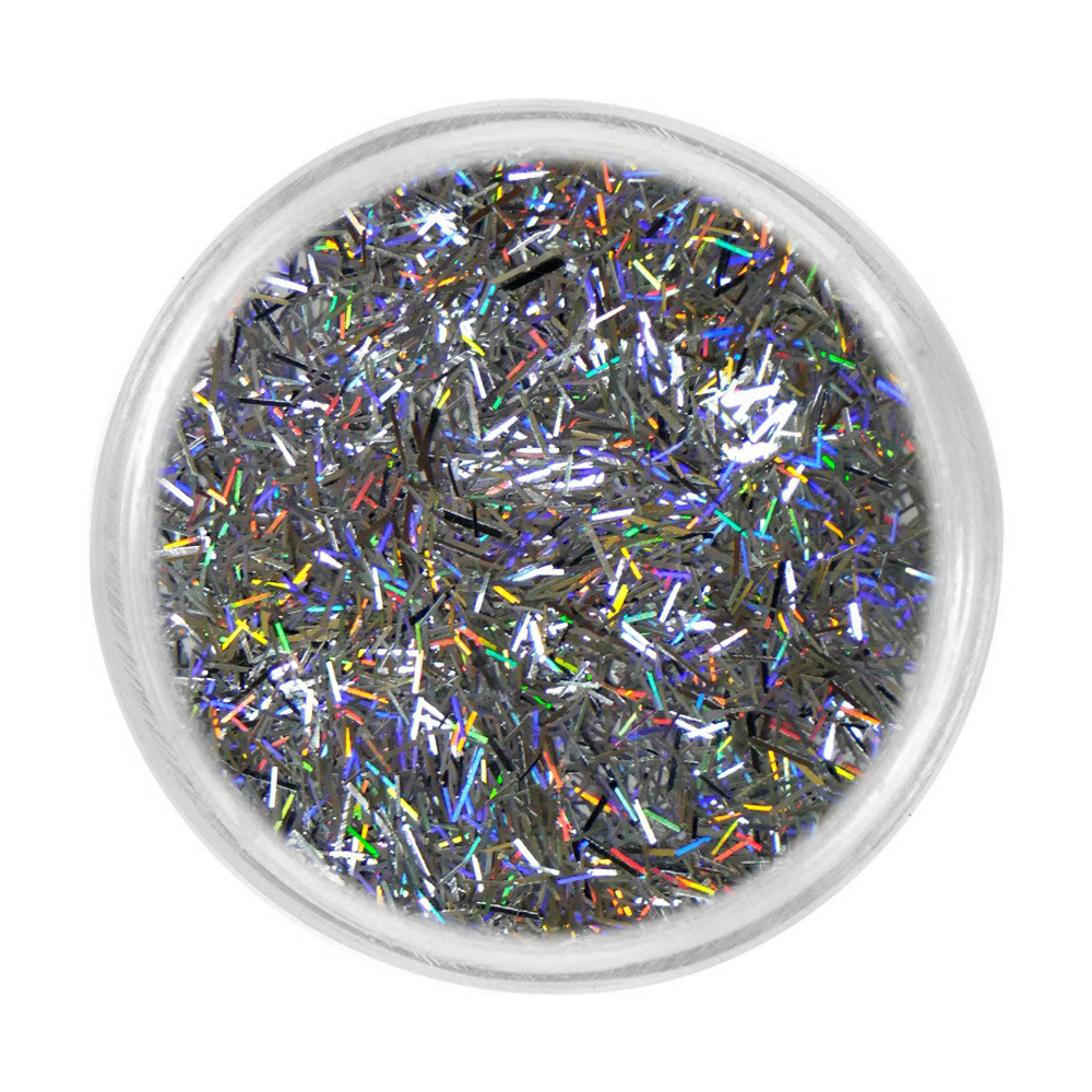 Блискітки для нігтів Tufi Profi 32 (733-030) голографік, срібло, 3 г