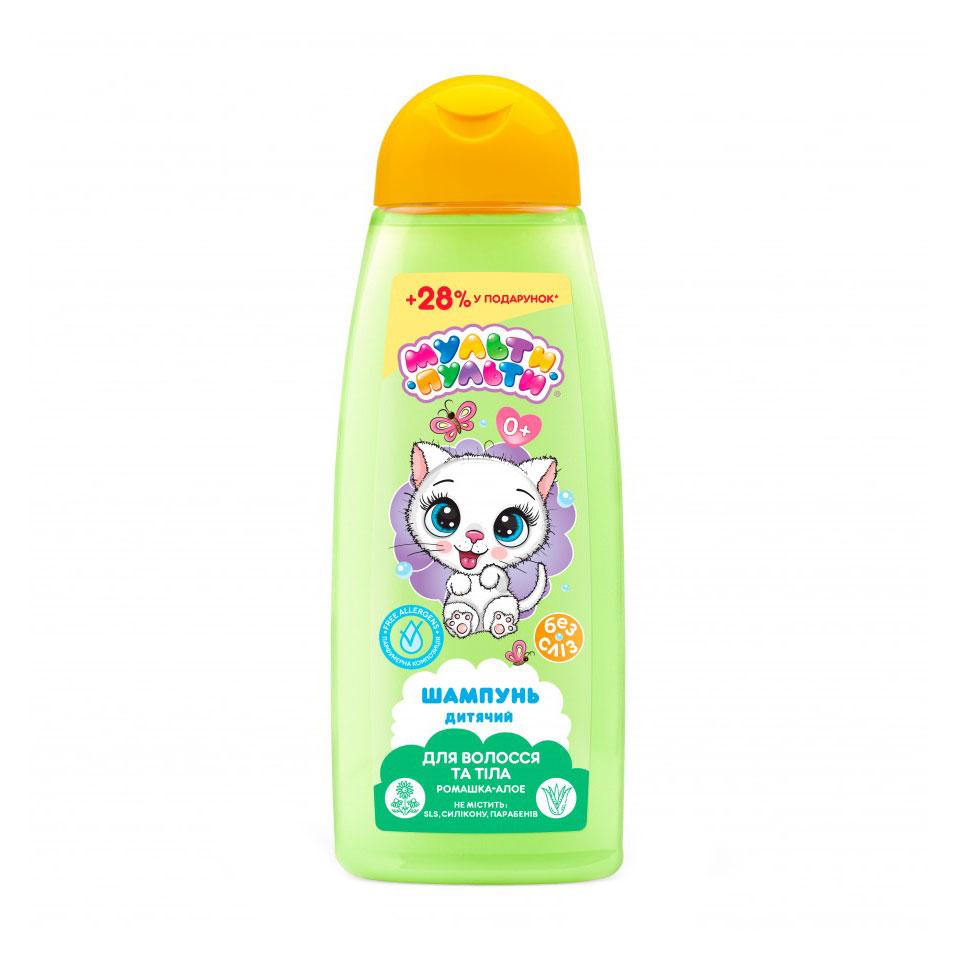 Дитячий шампунь для волосся та тіла Мульти-Пульти Ромашка-алое, 0+ років, 430 г