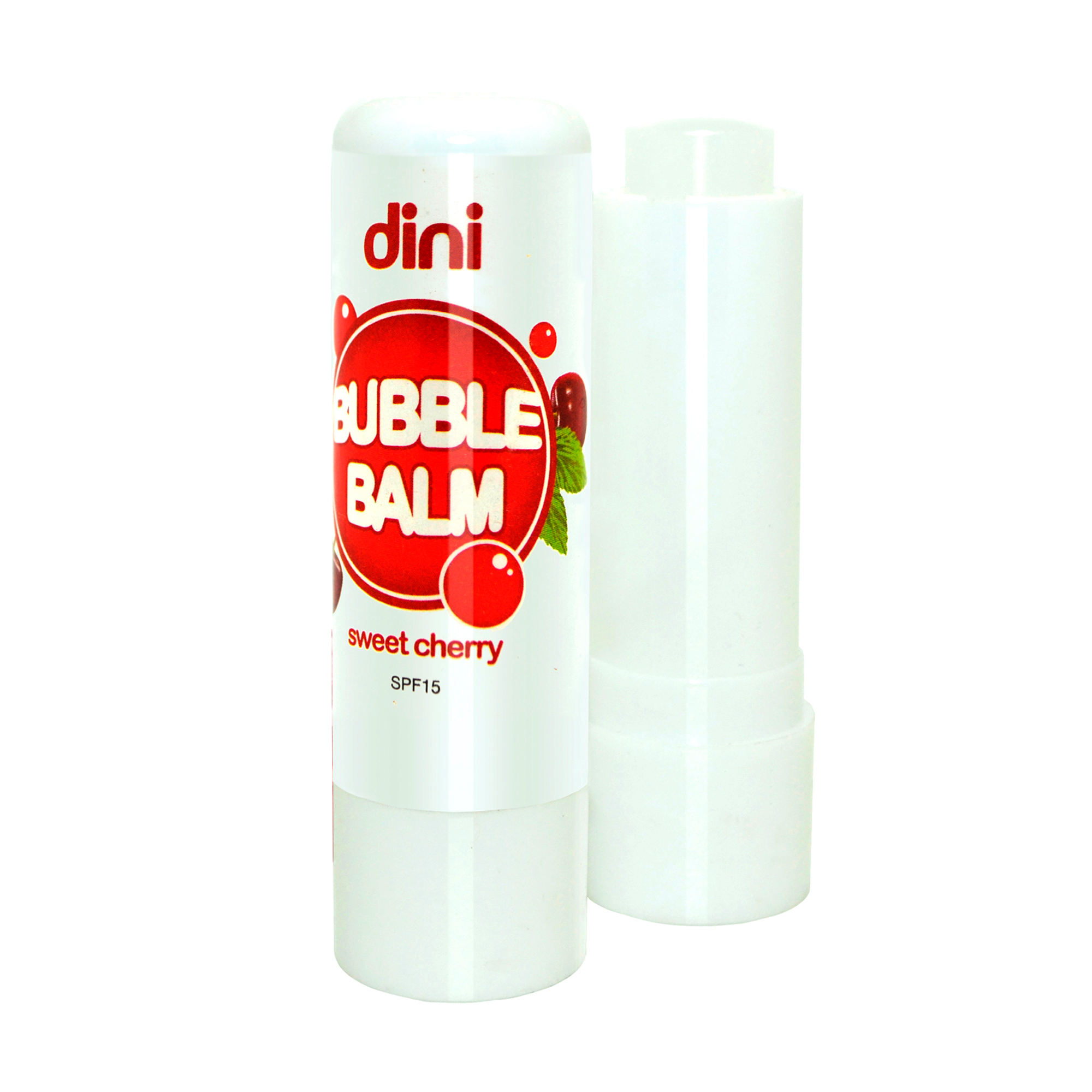Гігієнічна помада для губ Dini Bubble Balm SPF 15 Sweet Cherry, 4.5 г